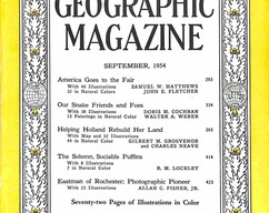 Item collection national geographic magazine september 1954 2015 07 31 15 49 17