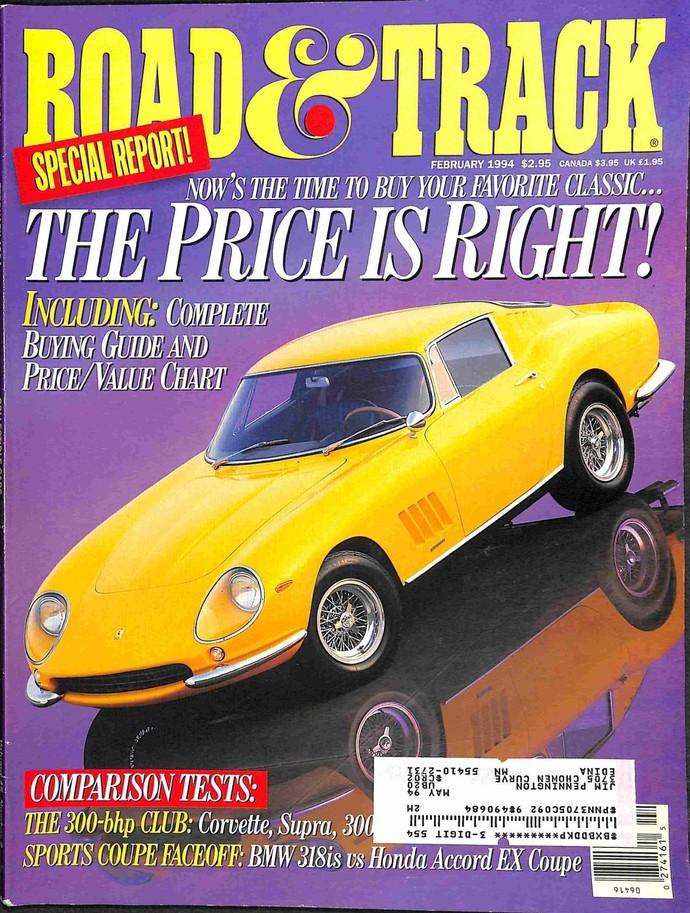 Road and Track Magazine, February 1994