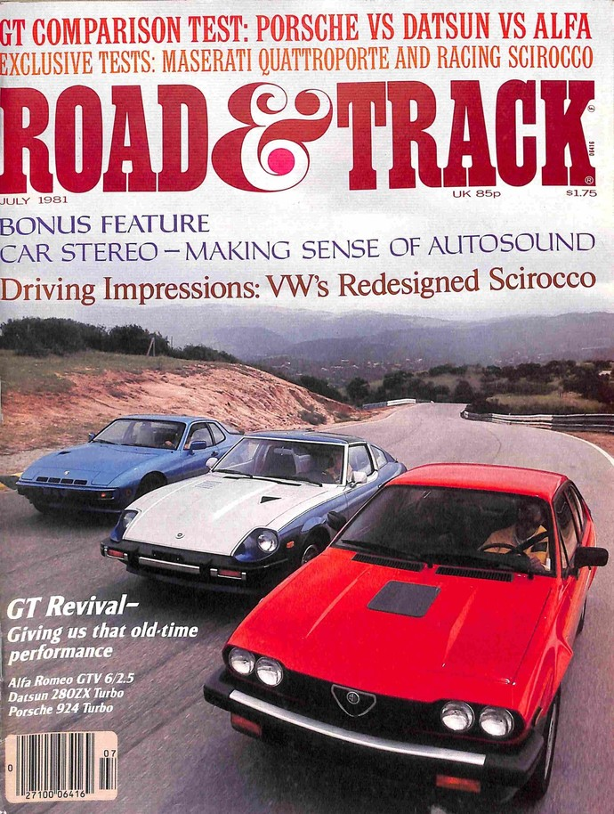 Road and Track Magazine, July 1981