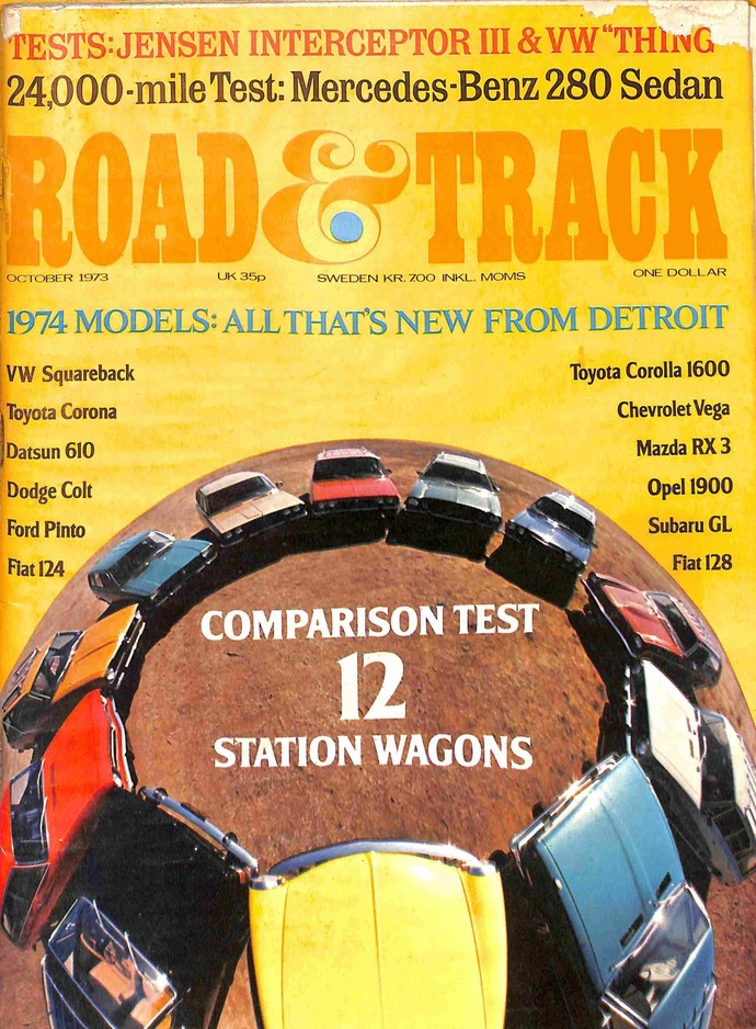 Road and Track Magazine, October 1973