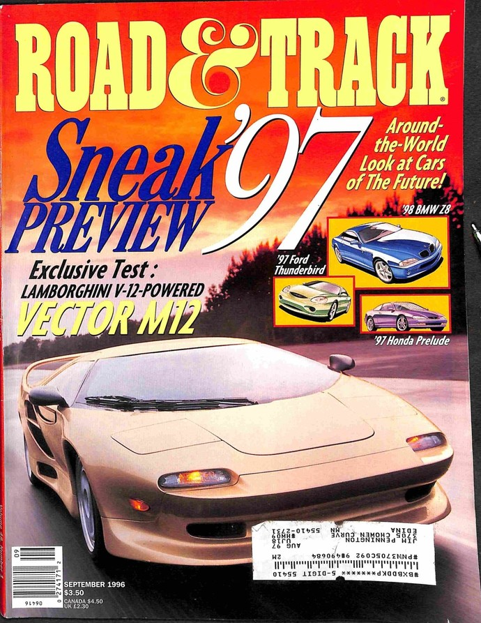 Road and Track Magazine, September 1996