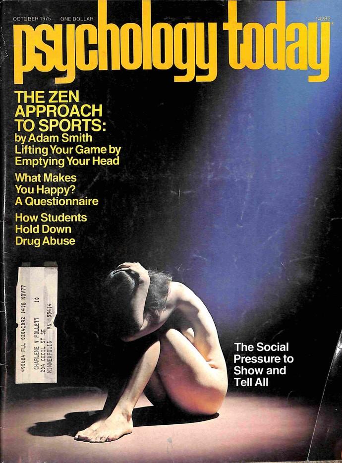 Psychology Today Magazine, October 1975