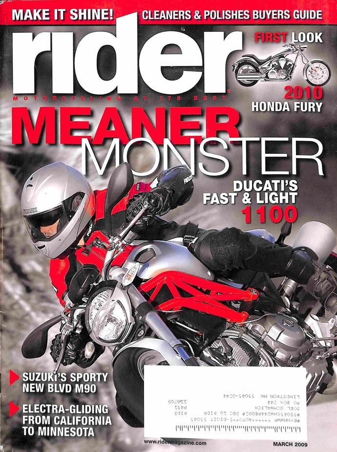 Rider Magazine, March 2009