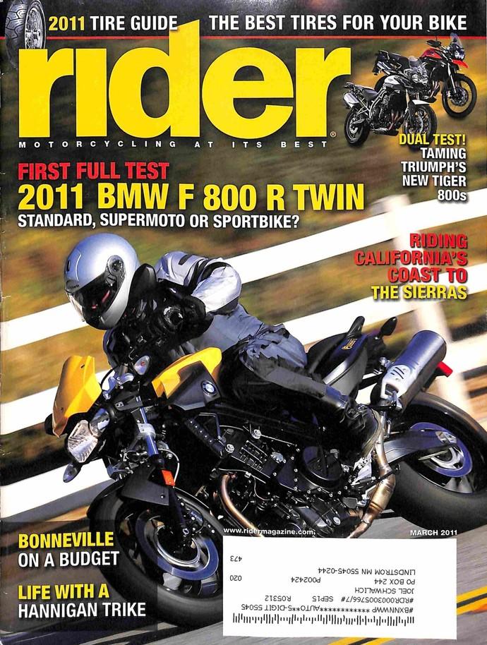 Rider Magazine, March 2011