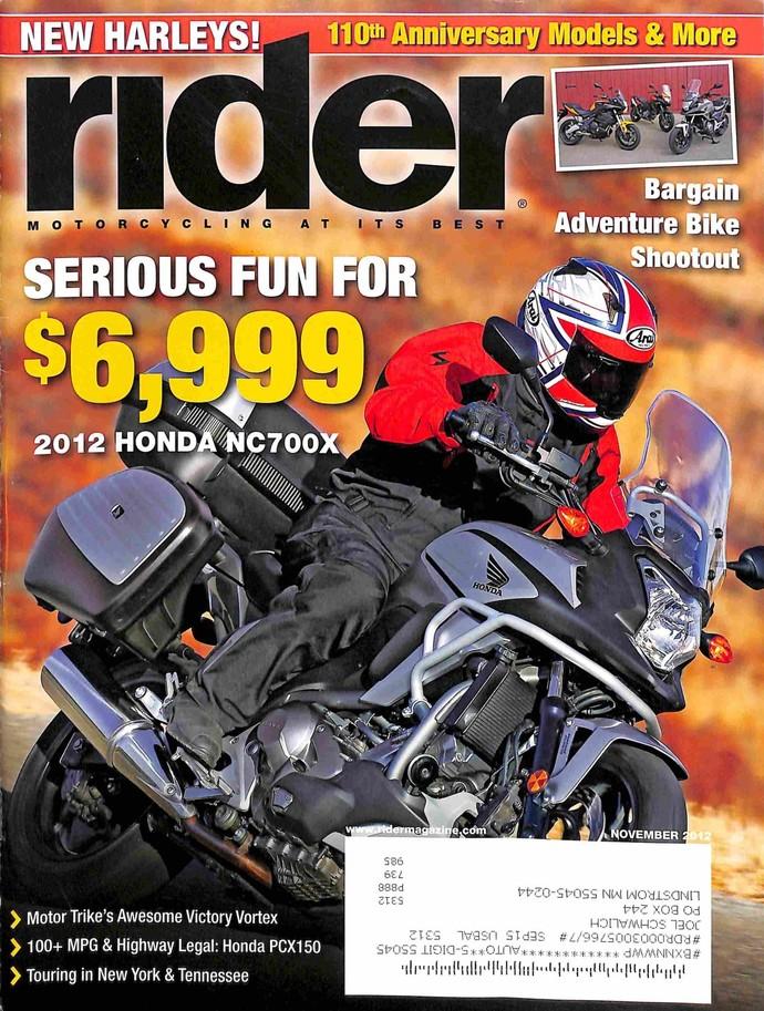 Rider Magazine, November 2012