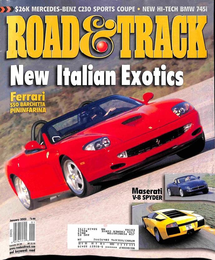 Road & Track Magazine, January 2002