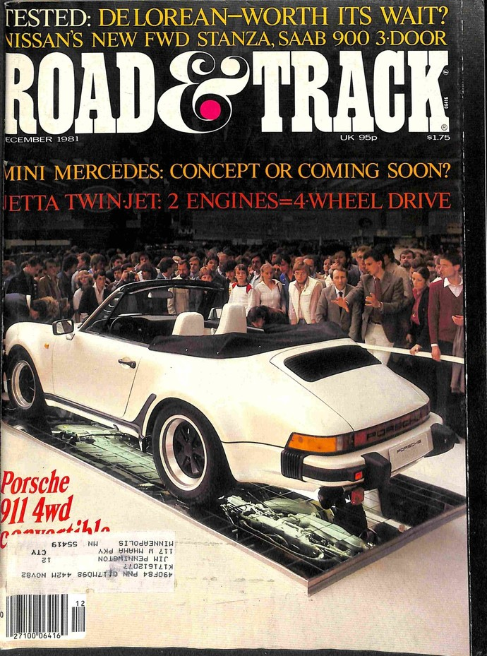 Road and Track Magazine, December 1981