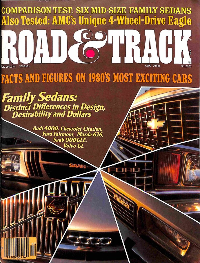Road and Track Magazine, March 1980