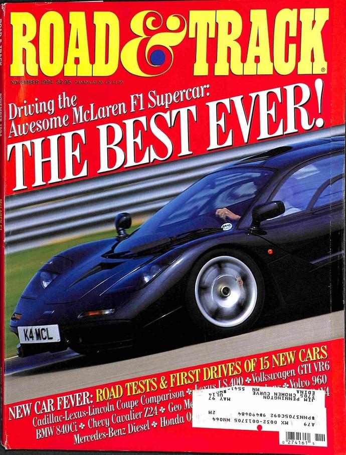 Road and Track Magazine, November 1994