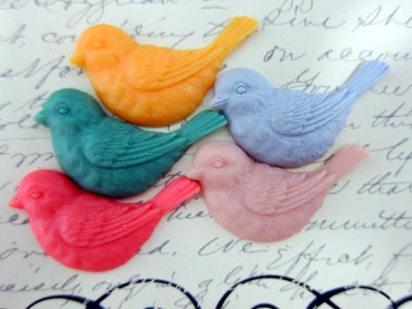 5 pcs Bird Cameo Set