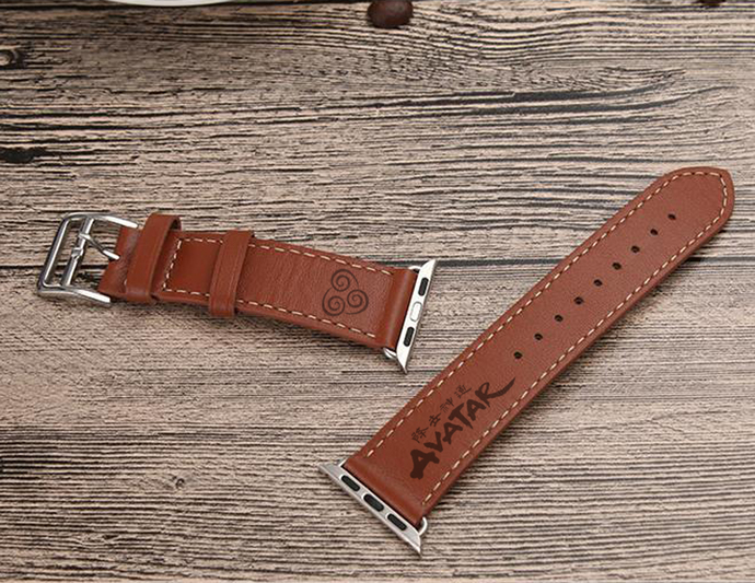 Avatar The Last Airbender Air Nomad Apple Watch Leather Band Strap