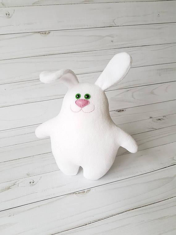 easter bunny cute teddy bunny rabbit toys hare by zootoys on zibbet