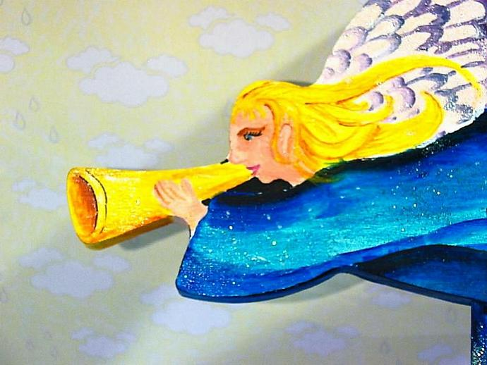 Angel of Bethlehem- hand painted and one of a kind