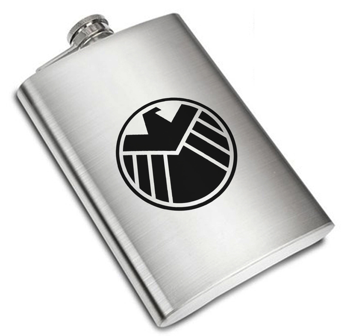 8 oz Agents of Shield Liquor Stainless Steel Flask