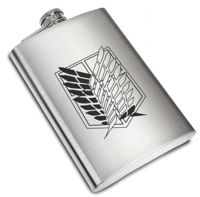 8 oz Attack On Titan Scouting Legion Liquor Stainless Steel Flask