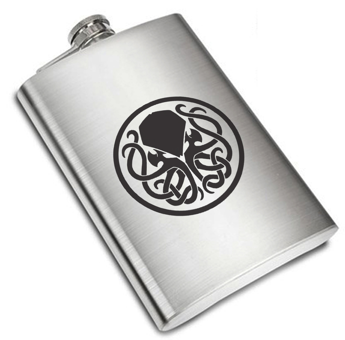 8 oz Cthulhu Liquor Stainless Steel Flask