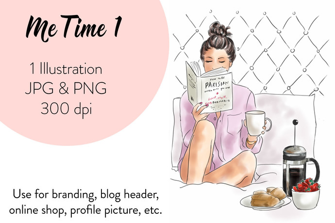 Fashion Clipart - Me Time 1