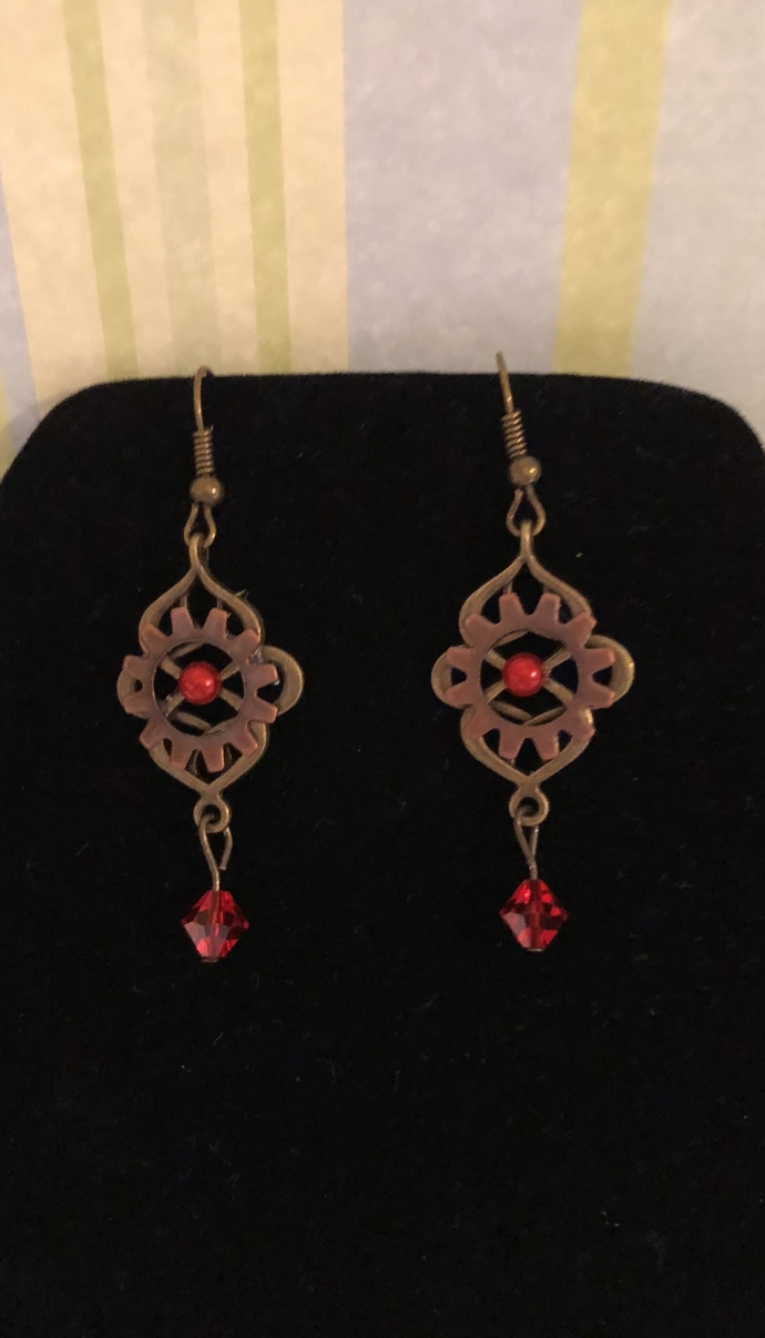 Moroccan Ruby Earrings