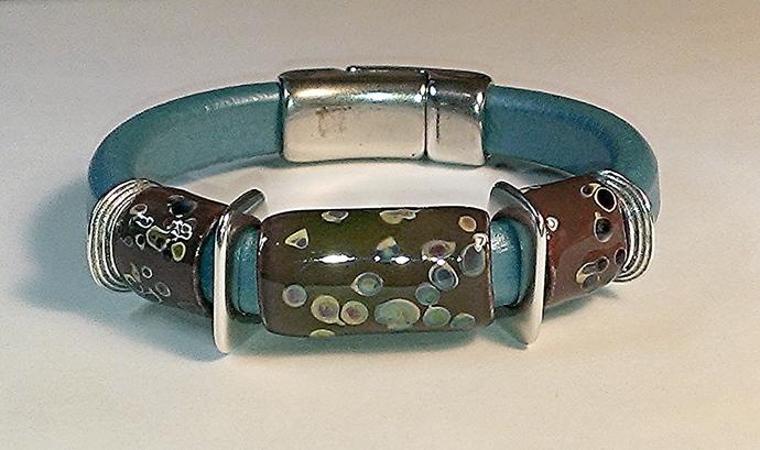 Regaliz Greek Leather Bracelet, Item #1488
