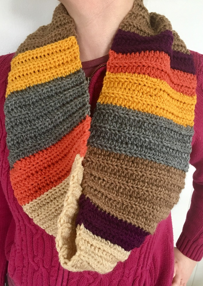 READY TO SHIP Tom Baker Scarf Inspired Cowl / Infinity Scarf - Women's