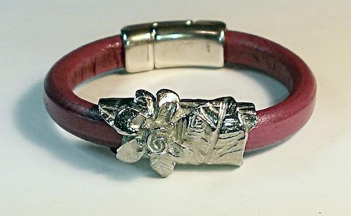 Regaliz Greek Leather Bracelet, Item #1490