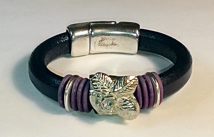 Regaliz Greek Leather Bracelet, Item #1491