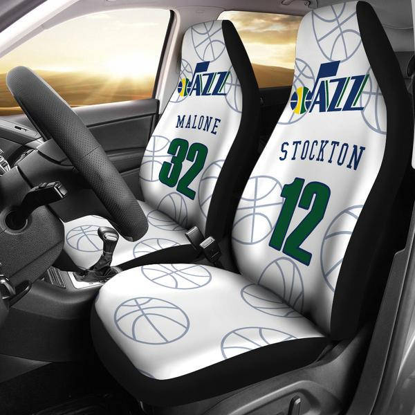 Utah Jazz pair of car seat Covers customizable by Pimp It on Zibbet