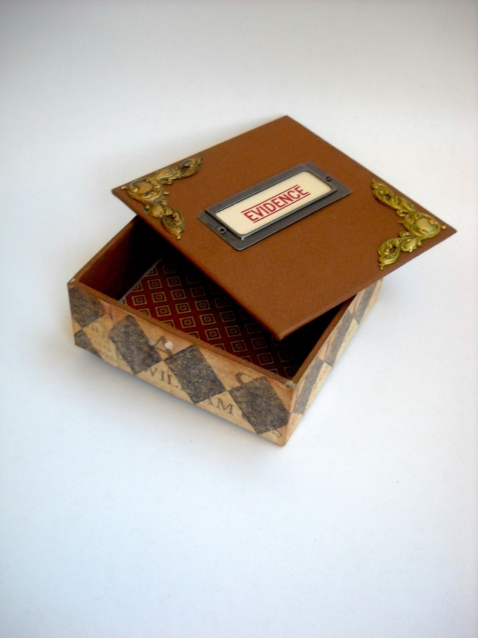 Handmade Book Board Treasure Box