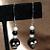 Black Skull Earrings 9047