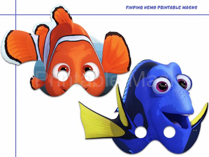 Unique Finding Nemo Dory 2 Printable Masks Sea Birthday Fish Mask Paper Kids