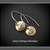 PEACE~ Brass and Argentium (93.5) Silver Hand Forged Earrings
