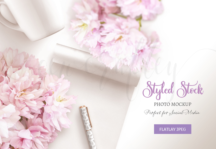 Blossom Stock Photo Mockup | Styled Stock Photography Mockup | Product Mockup |