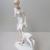 Rare Vintage German Wallendorf porcelain figurine,girl with baby fawn