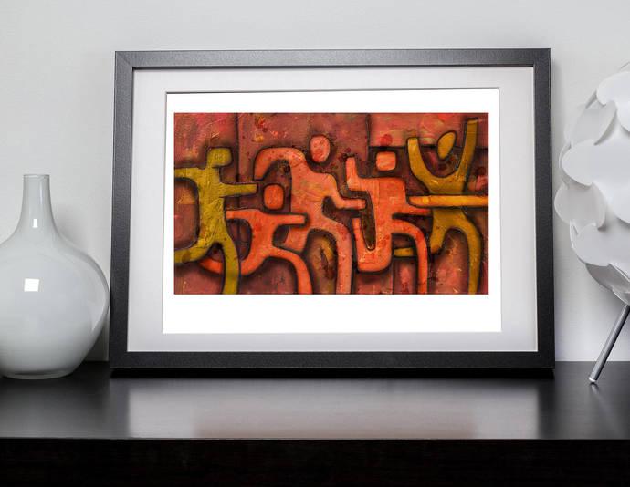 Running at sunset - Running Art Print - Marathon wall decor - Gift for