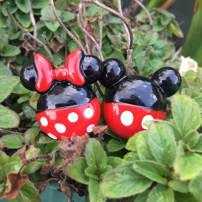 Mouse couple earrings
