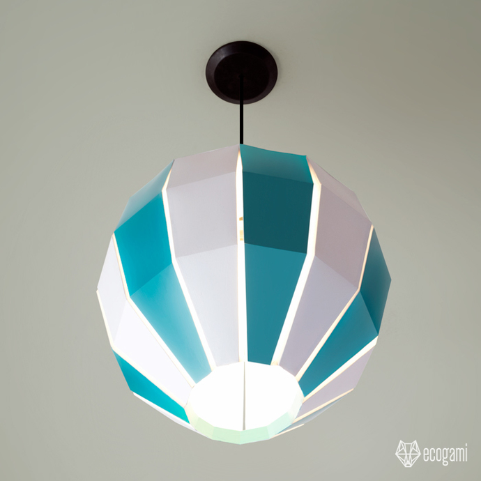 Make your own Balloon paper lamp | DIY decoration | Pendant light | Printable