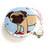 Measuring Tape Pug Dogs Retractable Tape Measure