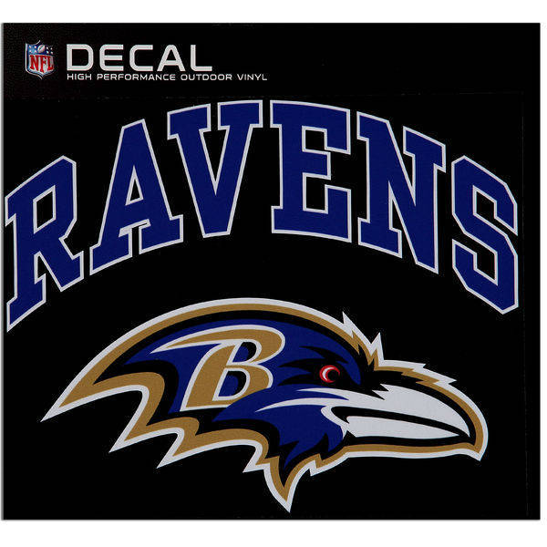 Baltimore Ravens Cornhole Decals - 11.5 x 9 Full Color Licensed NFL - Buy 2 And