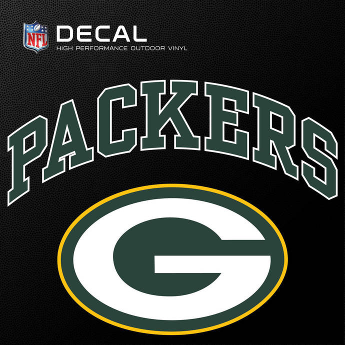 Green Bay Packers Cornhole Decals - 11.5 x 9 Full Color Licensed NFL - Free