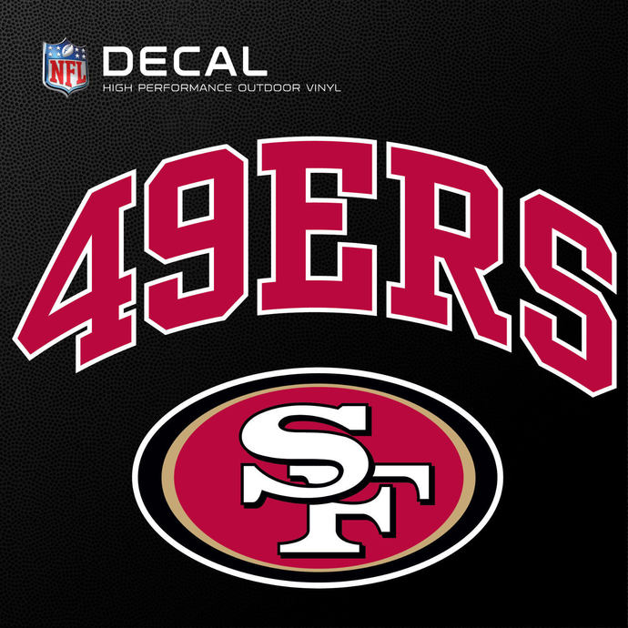 San Francisco 49ers Cornhole Decals - 11.5 x 9 Full Color Licensed NFL - Buy 2