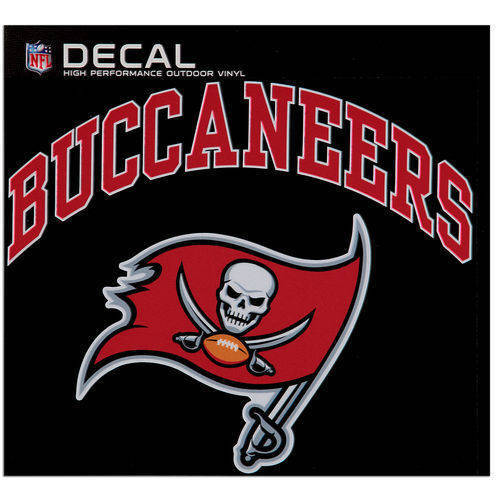 Tampa Bay Buccaneers Cornhole Decals - 11.5 x 9 Full Color Licensed NFL - Buy 2
