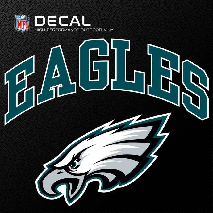 Philadelphia Eagles Cornhole Decals - 11.5 x 9 Full Color Licensed NFL - Buy 2