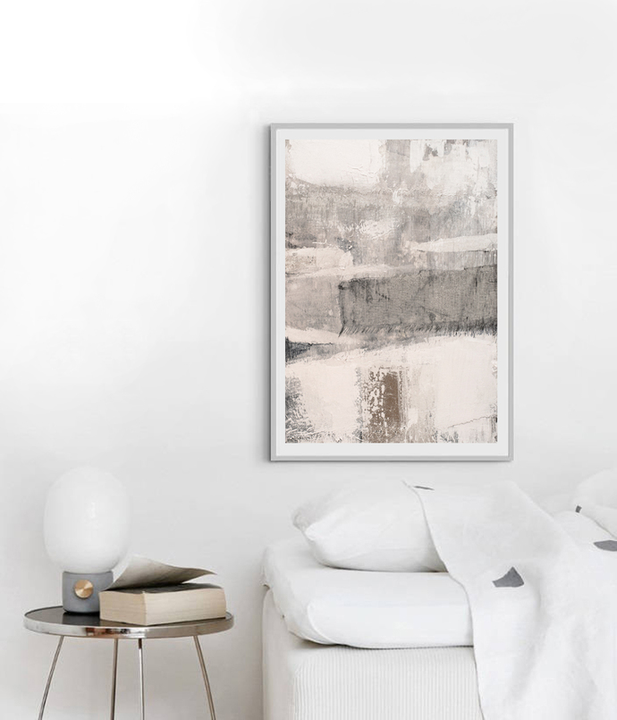 Beige Minimalist Painting, Scandinavian Print, Abstract Minimalist Art, Abstract