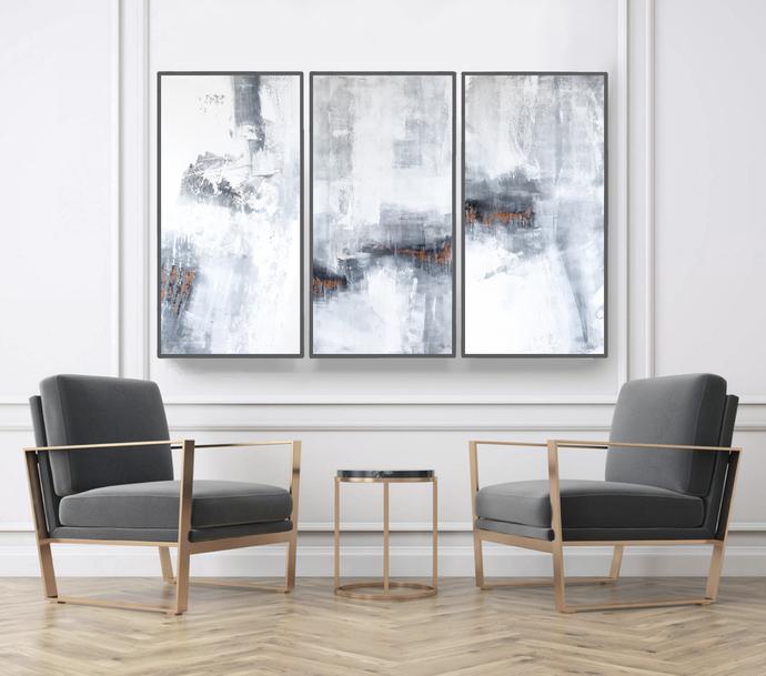 Abstract Art, Set of 3 Prints, Wall Art Prints, by SemelArt on Zibbet