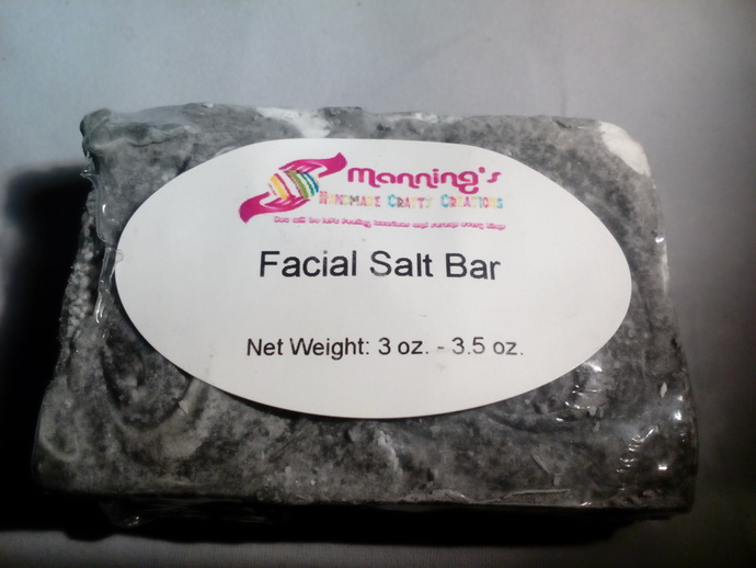 (Acne)  Facial Salt Bar Soaps