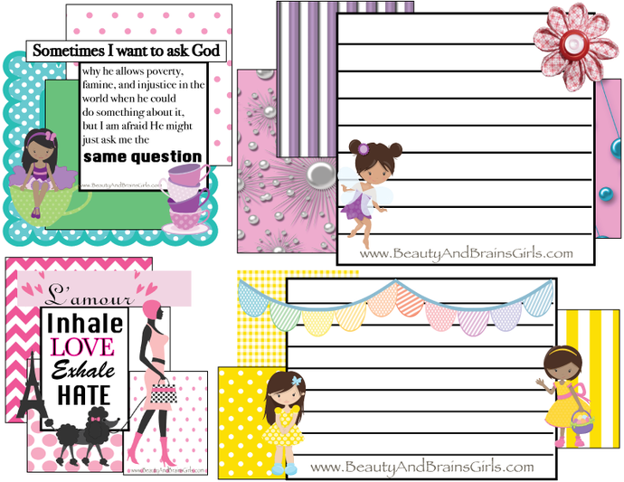 PDF 4 Journaling Cards Printable Journal Cards  Traveler's Notebook Journal
