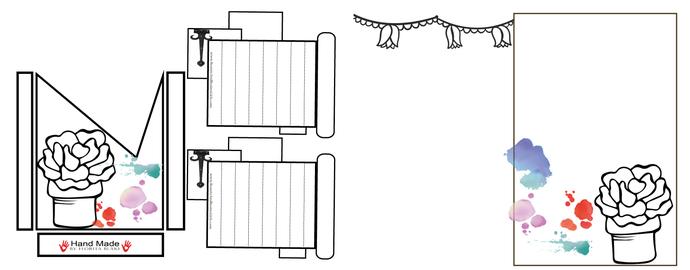 PDF Plant Journal Layout AND Folded POCKETPocket- Journaling Card- Junk Journal-
