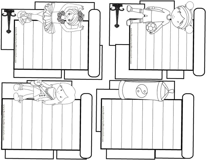 Karate Kids Play- Rock N'  PDF 4 Journaling Cards Printable Journal Cards