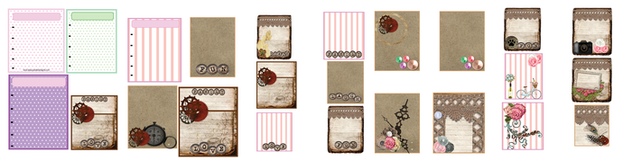 PDF Printable Embellishment Images of various sizes- Scrapbook Layout Art
