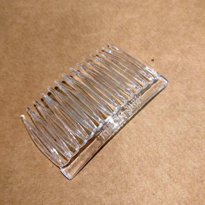 65 Clear Plastic Hair Combs for Millinery and Hat Making and Fascinators 3 inch